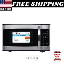 1000W Stainless Steel Microwave Home Appliance Potato Pizza Popcorn 1.1 Cu. Ft
