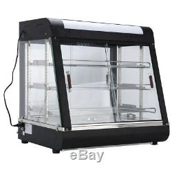 15-27 Commercial Food Pizza Warmer Cabinet Countertop Heated Display Case USA