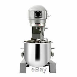 15Qt Commercial Blender Dough Food Mixer Gear Driven Pizza Bakery 580W Brand New