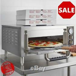 18 Stainless Steel Pizza Oven Countertop Single Deck Durable Food Baking New
