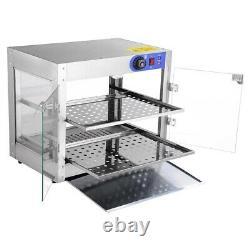 2 Tier Food Warmer Commercial Pie Pizza Cabinet Display Showcase Countertop