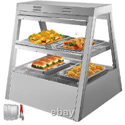 2 Tiers Commercial Food Warmer Cabinet 27x25x30 Countertop Pizza Display Case