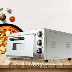 2000W Electric Pizza Oven Bakery Baking Cake Bread Roasted Home Countertop 110V