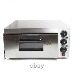 2000W Stainless Steel Single Layer Fire Stone Pizza Oven Bake Oven Ceramic Stone