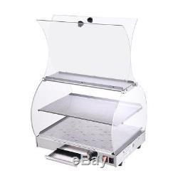 20x16x15 Food Warmer Snack Bar Restaurant Pizza Countertop Cabinet Display Case