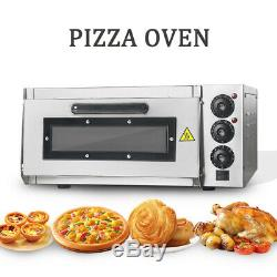 220V Commercial Single Layer Electric Pizza Cake Oven Dual Temperature Control