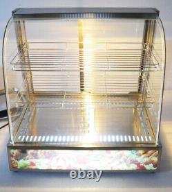 26 Warmer Pizza Food Heated 3 Tiers Display Case Cabinet Countertop Commercial