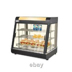 27 Commercial Food Warmer Court Heat Food Pizza Display Warmer Cabinet Glass