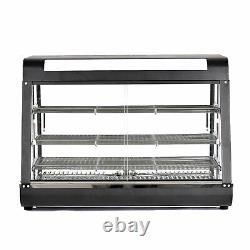 3-Tier 1800W Commercial Countertop Food Pizza Warmer Display Cabinet Case 30-85