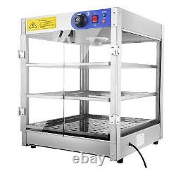 3 Tier Pizza & Food Warmer Commercial Cabinet Heat Food Display Case Countertop