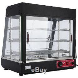 3 Tiers Heated Case Warmer Cabinet Display Food Pizza Countertop Commercial USA