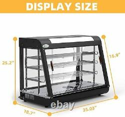 35 x 25 x 19 Commercial Food Warmer Cabinet 3 Tiers Countertop Pizza Display