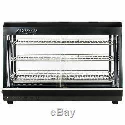 36 Countertop 3 Shelf Heated Display Warmer Sliding Door Food Pizza Self Serve