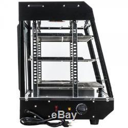 36 Countertop 3 Shelf Heated Display Warmer Sliding Door Self Serve Food Pizza