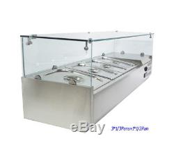 48'' Refrigerated Countertop Sandwich Prep / Pizza Prep table Stainless Steel