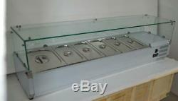 59 Refrigerated Countertop Sandwich Prep / Pizza Prep table 110V With Pans&Lids
