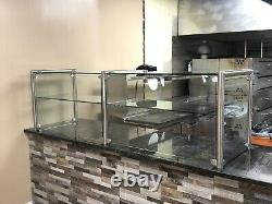 72 6ft Stainless Steel Frame less Pizza Display Case Sneeze Guard Style