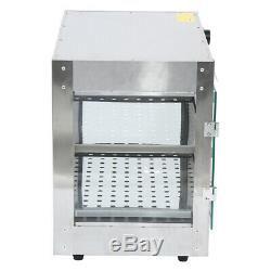 750W Commercial Countertop 2-Tier Food Pizza Warmer Display Cabinet Case Samger