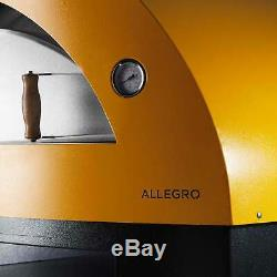 Alfa Allegro 39 Countertop Wood Fired Pizza Oven, Yellow