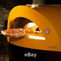 Alfa Allegro 39-Inch Outdoor Countertop Wood-Fired Pizza Oven Yellow