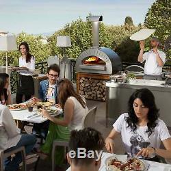 Alfa Quattro Pro 35 Countertop Pizza Oven, Silver Gray, Wood Fired