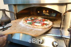 Alfresco 30 Stainless Steel Countertop Gas Pizza Oven with Halogen Oven Light