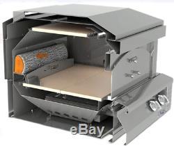 Alfresco AXEPZANG 30 Pizza Oven for Countertop Mounting Natural Gas 20,000 BTU