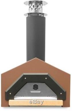 Americano Counter Top Wood Burning Pizza Oven in Terra Cotta 29.5 x 30 Inches