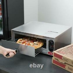 Avantco Stainless Steel Countertop Pizza Oven Adjustable Thermostatic 120V 1450W