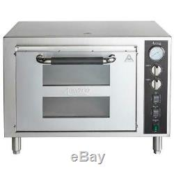Avantco Stainless Steel Double Deck Electric Countertop Pizza Oven 3200W, 240V