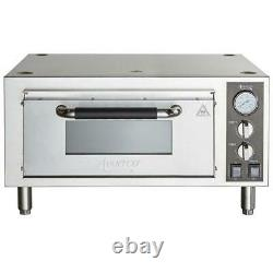 Avantco Stainless Steel Stackable Single Deck Countertop Pizza Oven 1700W, 120V
