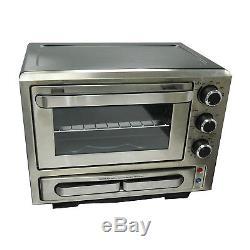 Avanti 1000 Watt Stainless Steel Portable Kitchen Countertop Pizza Toaster Oven