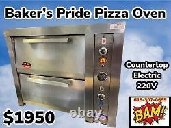 Bakers Pride Double Deck Countertop Electric Pizza Deck Oven