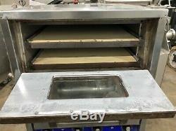 Bakers Pride P44S Countertop Electric Pizza PRETZEL Oven 2 Deck Brick W STAND