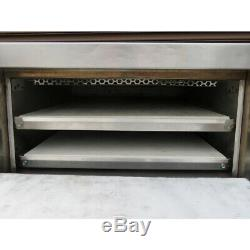 Bakers Pride P44S Electric Pizza / Pretzel Two Compartment Oven, Used