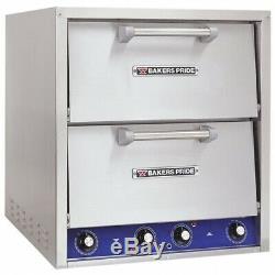 Bakers Pride P46S Countertop Pizza/Pretzel Oven Double Deck, 208V, 3 Phase