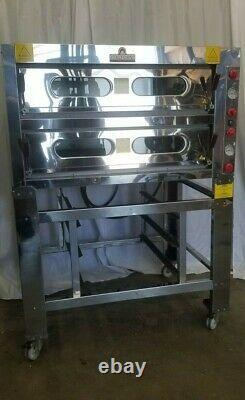 Beautiful Italforni Pesaro Tdk-2. I Bakery Pizza Bread Double Oven