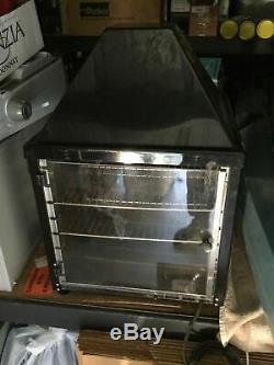Black Commercial Countertop Food Warmer Pizza Display Case Wisco 690-16