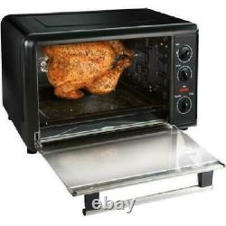 Black Countertop Oven Two 12 Pizzas W Convection & Rotisserie X-Large beautiful