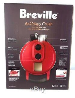 Breville Crispy Crust Pizza Maker, Cranberry Countertop 12 Electric BPZ600CRN