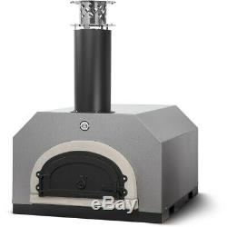 Chicago Brick Oven CBO-500 Countertop Outdoor Wood Fired Pizza Oven Silver