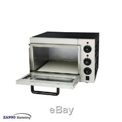 Commercial 2000W Electric Cake Bread & Pizza Baking Oven With Timer Thermosat