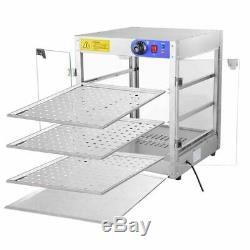 Commercial 20x20x24 Countertop 3-Tier Food Pizza Warmer Display Cabinet Case US