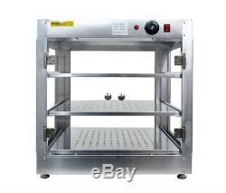Commercial 24 x 24x 24 Counter top Food Pizza Pastry Warmer Wide Display Case