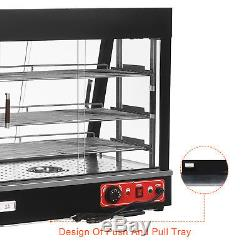 Commercial 26x26x20 Countertop 3-Tier Food Pizza Warmer Display Cabinet Case