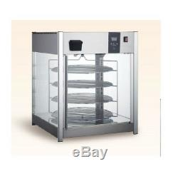 Commercial Countertop 4-Tier Food Pizza Warmer Display Cabinet Case Counter top