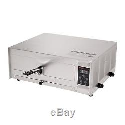 Commercial Digital Electric Pizza Oven Counter Top Snack Bakers Stainless Steel