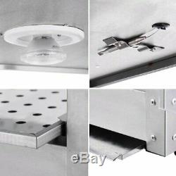 Commercial Food Warmer Countertop Heat Food pizza Display Warmer Cabinet 3-Tiers