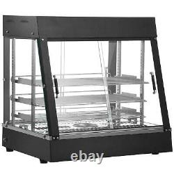 Commercial Food Warmer Court Heat Food Pizza Display Warmer Cabinet 35 Glass US