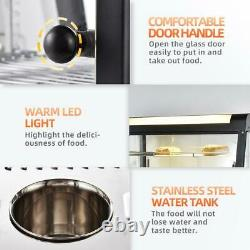 Commercial Food Warmer Court Heat Food pizza Display Warmer Cabinet 15 Glass 3T